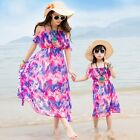 New summer Red chiffon girls women dress Family dresses Bohemia kids girl dress