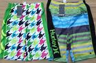 "HURLEY LOGO BOYS/YOUTH ""THE HOT IN STYLE BRAND"" POLY BOARD/SWIM SHORTS LIST $32"
