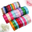 2 RollsX25Yds 6mm Single Sided Satin Ribbon Apparel Sewing Crafts Decorations