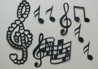 54 ASSORTED MUSIC NOTES FOR CHRISTMAS DIE CUTS CLEFS QUAVERS ETC job lot,