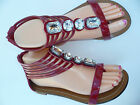 RED WOMEN'S GLADIATOR  SANDALS FOREVER SIZES: 6