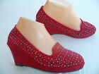 RED WOMEN'S WEDGE SHOES FOREVER SIZES : 5-9