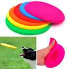 Dog Puppy Cat Pet  Silicone Training Fetch Toy Frisbee Flying Disc Toy Play Hot