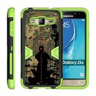 For Samsung Galaxy J3 / Amp Prime / Express Prime Holster Clip Stand Green Case
