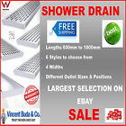 NEW Stainless Steel Linear Shower Drain Grate Waste Tile Insert Heelguard CENTRE