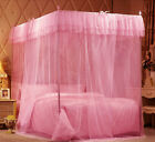 Pink Lace Princess Bedding Canopy Mosquito Netting Or Frame(Post) Twin Queen