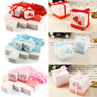 Paper Wedding Party Favour Sweet Boxes Bags Ribbons Tags Large Pack of 100pcs