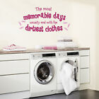 The Most Memorable Days -  Wall Decal Sticker lounge kitchen utility room hall