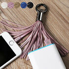 New Leather Tassel 8 pin USB Sync Data Charger Cable 3.0A for iPhone 5 5s 6 plus
