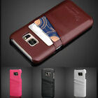 Luxury Holder Leather Card Slot Cover Back Case For Samsung Galaxy S7/S7 Edge