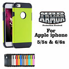 Apple iPhone 5/5s And 6/6s Tough Armor TPU PC Slim Armor Style Phone Cover case
