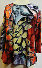 Valentina Top Multi Colored Ribbon Style  8761 Polly NWT  Size XLarge