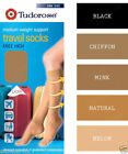 Mens Womens Ladies Medium Weight Support Knee High Travel Socks 4 Colours UK 4-7