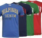 TOMMY HILFIGER MEN FEDERER TEE/T SHIRT BLUE/ RED S/M/L/XL/XXL BNWT