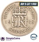 1937 TO 1952 GEORGE VI SILVER SIXPENCES - CHOICE OF YEAR / DATE