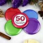 50th Birthday Party Badge - Button Pin Badge