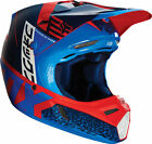 2016 FOX RACING MX YOUTH V3 DIVIZION HELMET - RED/BLU OFF ROAD DIRT BIKE- YOUTH