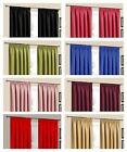 THERMAL BLACKOUT READY MADE PLAIN PENCIL PLEAT CURTAIN PAIR 7 SIZES + 8 COLOURS