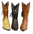 Men's Genuine Leather Fish Skin Western Cowboy Boots Special Price $329.99