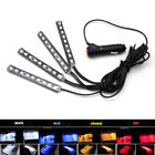 4x 9 Led Car Interior Lights Footwell Strip Light Atmosphere Decoration Lamp