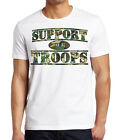 Men's Camo Support Our Troops Classic White Tee Shirt Military Army Navy Marines