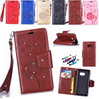 New Fashion Card Holder Leather Flip Wallet Case Cover For Samsung Galaxy Phone