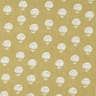 Robert Allen Hand Flora Amber Fabric, Floral Drapery Curtain Fabric by the yard