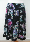 Monsoon black floral knee length cotton ruffle detail~10/12~New