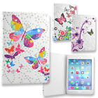 Flower Butterfly Print Protective Wallet Folio Case Cover for iPad Mini 1, 2, 3