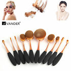 10Pcs Cream Puff Cosmetic Toothbrush Shaped Power Makeup Foundation Brushes