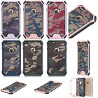 Camo Dual Rugged Shockproof Back Case Army Bumper For iPhone Samsung Galaxy S7