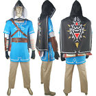 Legend of Zelda Breath of the Wild Link Tunic Halloween Cosplay Costume Outfit