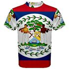 New Belize Flag Sublimated Men's Sport Mesh T-Shirt Size XS-3XL Free Shipping