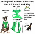 New Vest Pet Harness Non Pull Green SERVICE DOG Padded Waterproof Front Back Cli
