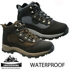 NEW MENS GROUNDWORK WATERPROOF TREK WALKING HIKING MID ANKLE BOOTS SHOES SIZE
