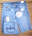 BUBBLEGUM USA LOGO DENIM BERMUDA SHORTS JR/MISSES LIST $34