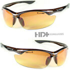 assemblages definition - SPORT WRAP HD NIGHT DRIVING VISION SUNGLASSES BROWN HIGH DEFINITION GLASSES