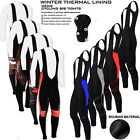 Mens Cycling Bib Tights Thermal Padded Long Leggings Winter Cycling Trousers