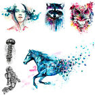 Beauty Women Body Art Colorful Drawing Horse Owl Decal Temporary Tattoo Stickers $1.28 USD