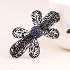 Fashion Women's Rhinestone Flower Metal Hair Pin Barrette Hairpin Clip