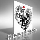 Love Wording and Quote Square  Canvas Print Large Picture Wall Art