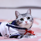 Pet Japan School Girl Uniform Sailor Collar Dog Cat Puppy Kitty Costume Dress