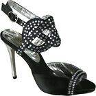 LADIES WOMENS PROM BRIDAL EVENING PARTY DIAMANTE ANKLE STRAP SANDALS SHOES SIZE