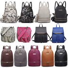 Women Designer Faux Leather Zip Backpack Handbag School Travel Shoulder Bag