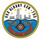 Uss Albany Sticker Military Armed Forces Decal M143