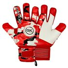 Football Goalkeeper Goalie GK Saver Camo Red Negative Cut Goalie Gloves Pro