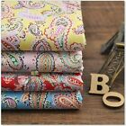 Ethnic Paisley Flower Floral Print Charm Quality Poplin Cotton Fabric 1 Yd