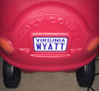 American Personalised Licence Plate decal for Little Tikes Cozy Coupe toy car