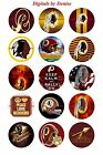 "WASHINGTON REDSKINS 1"" CIRCLES  BOTTLE CAP IMAGES. $2.45-$5.50  FREE SHIPPING--- $2.45 USD on eBay"