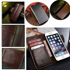 Hot Real Leather Wallet Card Holder Flip Case Cover for Apple iPhone6 6S plus FD